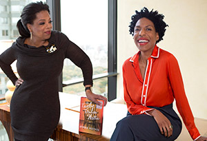 Oprah Winfrey and Ayana Harris