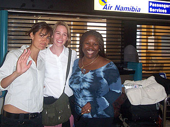 Marina, Carri and Tiffany at the end of their trip to South Africa.