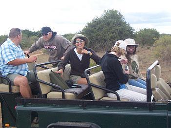 Marina Carri Tiffany open land rover vehicle experience beauty Shamwari reserve