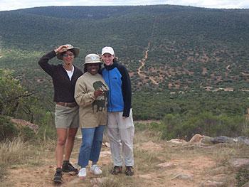 Book Club travelers at the Shamwari Game Reserve