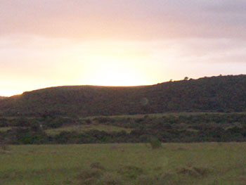 The African sky at dusk