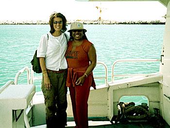Tiffany and Marina on the Robben Island Ferry