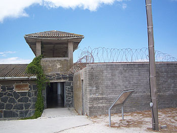 The entrance to the former prison at Robben Island.