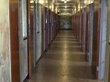 Corridor to Mandela's cell.