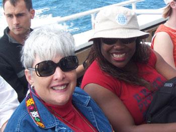 American Book Club members meet on the ferry.