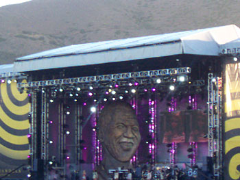 The 46664 Concert stage in Cape Town.