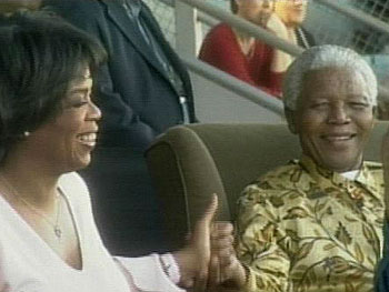 Nelson Mandela at the 46664 concert