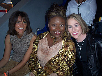 Marina, Tiffany and Carri listen to Bono, Beyonce, the Eurythmics and more at the 46664 concert.