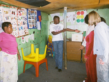 Inside the daycare center
