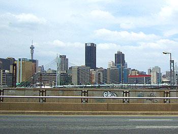Downtown Johannesburg bridge named after Nelson Mandela.