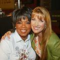 Actress Jane Seymour and Oprah in Salinas, CA