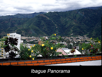 Journey Ibague city near Andes Mountains, Central Colombia