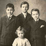Left to right: Jack, William Faulkner, John and baby brother Dean
