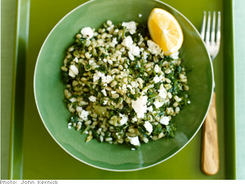 Arugula and Barley Tabbouleh