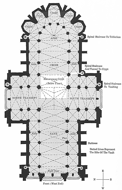 Gothic Architecture Floor Plan Design Decoration
