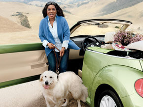 Oprah and Luke on the October 2009 cover of O The Oprah Magazine