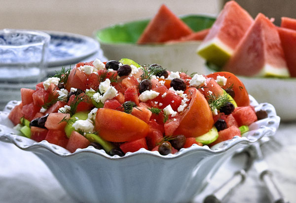 Watermelon and Tomato Salad with Feta