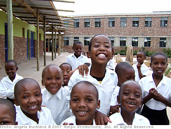 Children at the Seven Fountains school