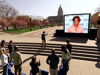 Oprah gives the contestants their next challenge.