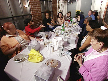 Rachael has dinner with the women of the Empowerment Group.