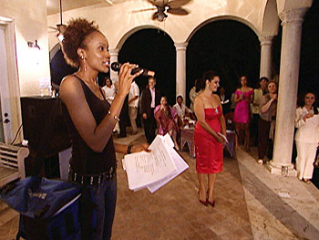 'Oprah's Big Give' contestant Rachael at a fashion show.