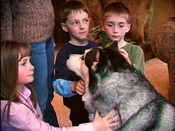 Missy and Jeff's children with their dog, Rocket