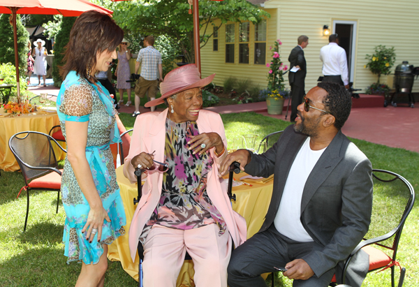 Dr. Angelou with Martina McBride and Lee Daniels