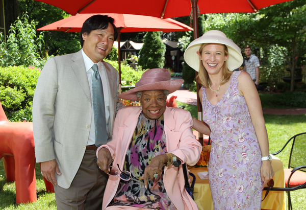 Dr. Maya Angelou with Ming and Polly Tsai