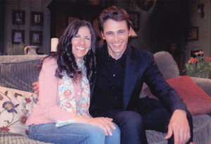 Betsy Franco and James Franco on the set of ???General Hospital???