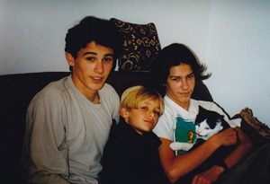 James Franco and his brothers Tom and Dave