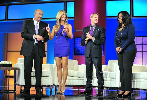 Dr. Phil, Nancy O'Dell, Carson Kressley and Oprah