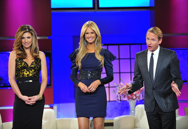 Daisy Fuentes, Nancy O'Dell and Carson Kressley