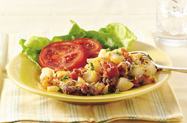 Cheesy Hamburger Hash