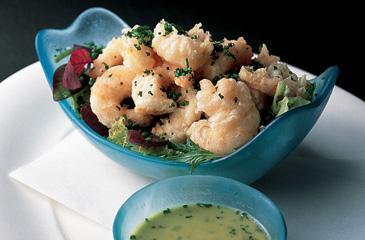 Mediterranean Shrimp Tempura with Jalape??o Ponzu