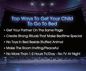Checklist for getting kids to bed