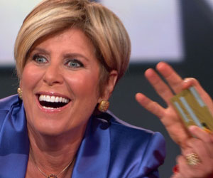 Suze Orman with credit card