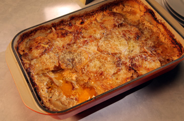 Beer Scalloped Potatoes