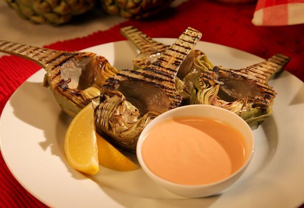 Cristina Ferrare's Grilled Artichokes