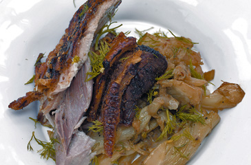 Slow-Roasted Pork Belly with the Sweetest Braised Fennel