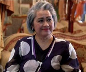 Cora Lorenzo in her Livingroom