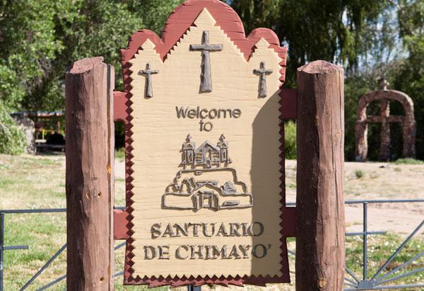 Chimayo Signpost