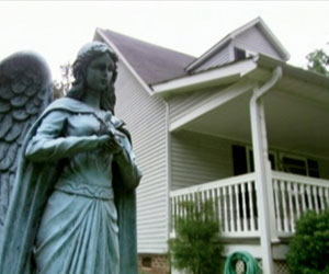 Angelic Statue in the Banton's Front Yard