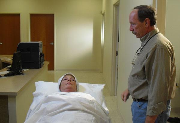 Liana Jones in the hospital