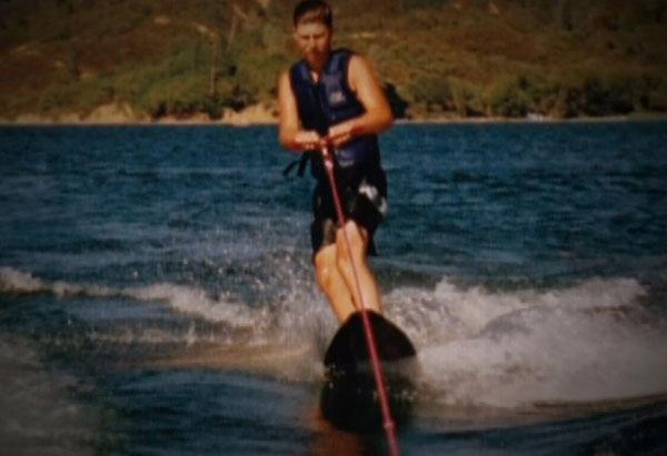 Matt Horick wakeboarding