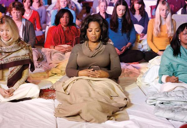 Oprah Winfrey Meditating