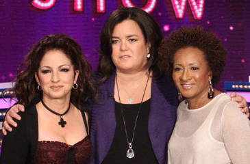 Rosie O'Donnell with Gloria Estefan and Wanda Sykes