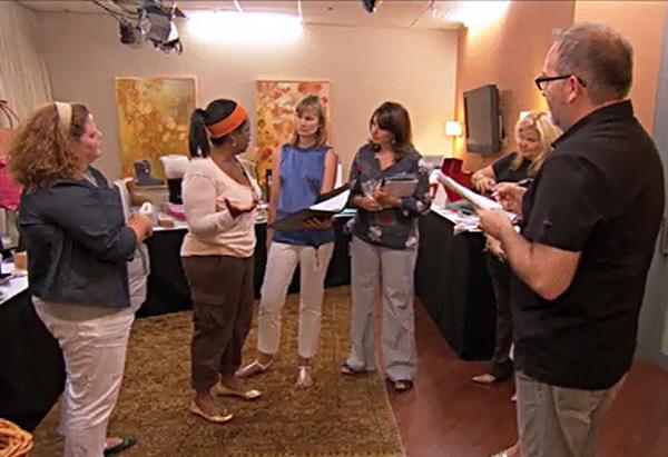 Oprah talks to her staff