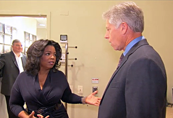 Oprah and Mark in the greenroom