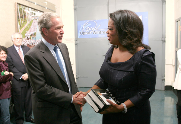 George W. Bush and Oprah