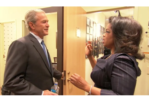 Oprah and George W. Bush